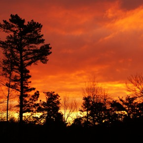 Daily JDotSHOT: Pocono Pines, PA Greets Me With A Blazing Sky